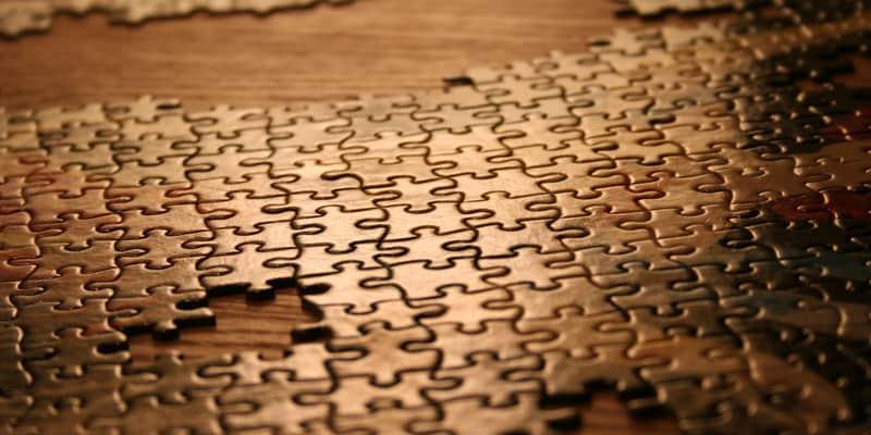puzzle en cours de complétion