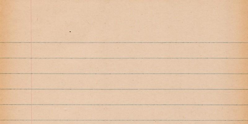 Scan d'une vieille page de cahier lignée, vierge et légèrement rosée